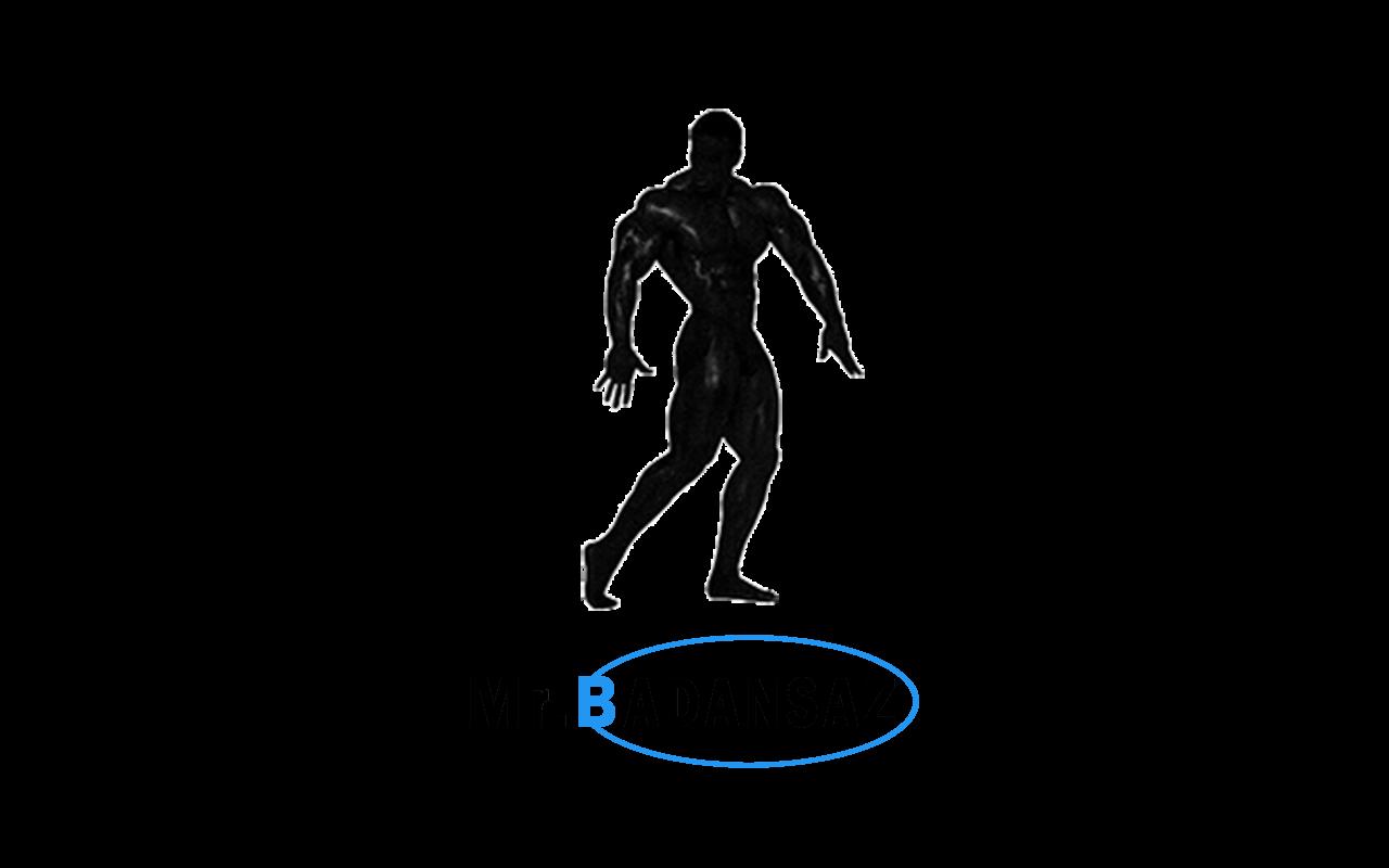 لوگوی کامل آقای بدنساز